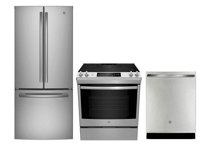 Electromenagers Ge Trio Electro Surplus Rd French Door Refrigerator Kitchen Appliances Oven