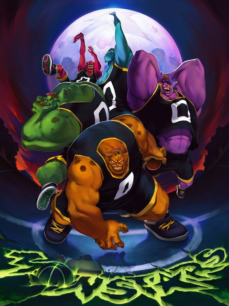 The Monstars Villains Wiki Fandom Powered By Wikia Space Jam Cartoon Drawings Looney Tunes Cartoons