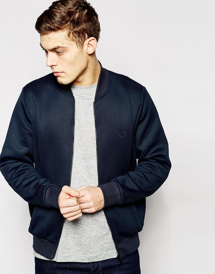 Fred Perry Laurel Wreath Bomber Jacket in Tricot Fabric