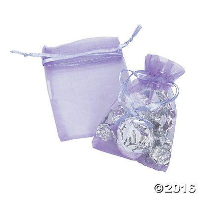 Lilac Mini Drawstring Bags, to put tea bag inside as a party favor?
