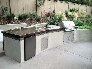 Modern barbecue island (outdoor kitchen)