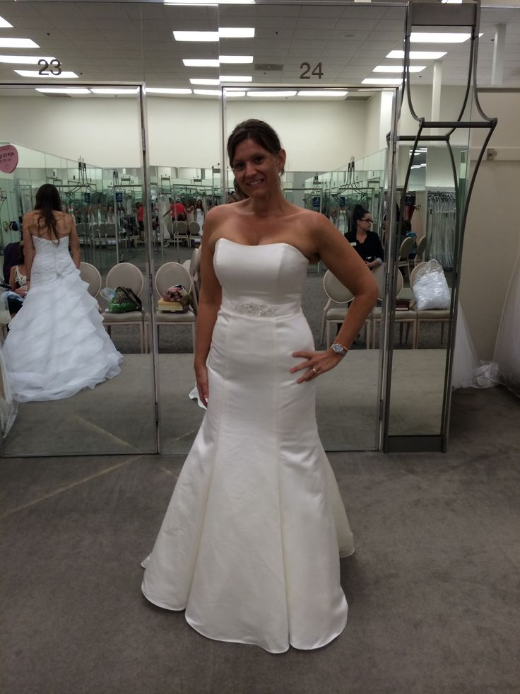 Strapless Trumpet Gown. David's Bridal.