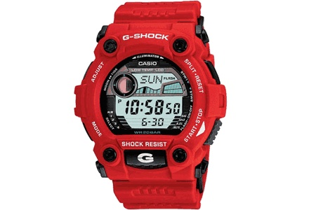 Red Casio G shock G7900 A