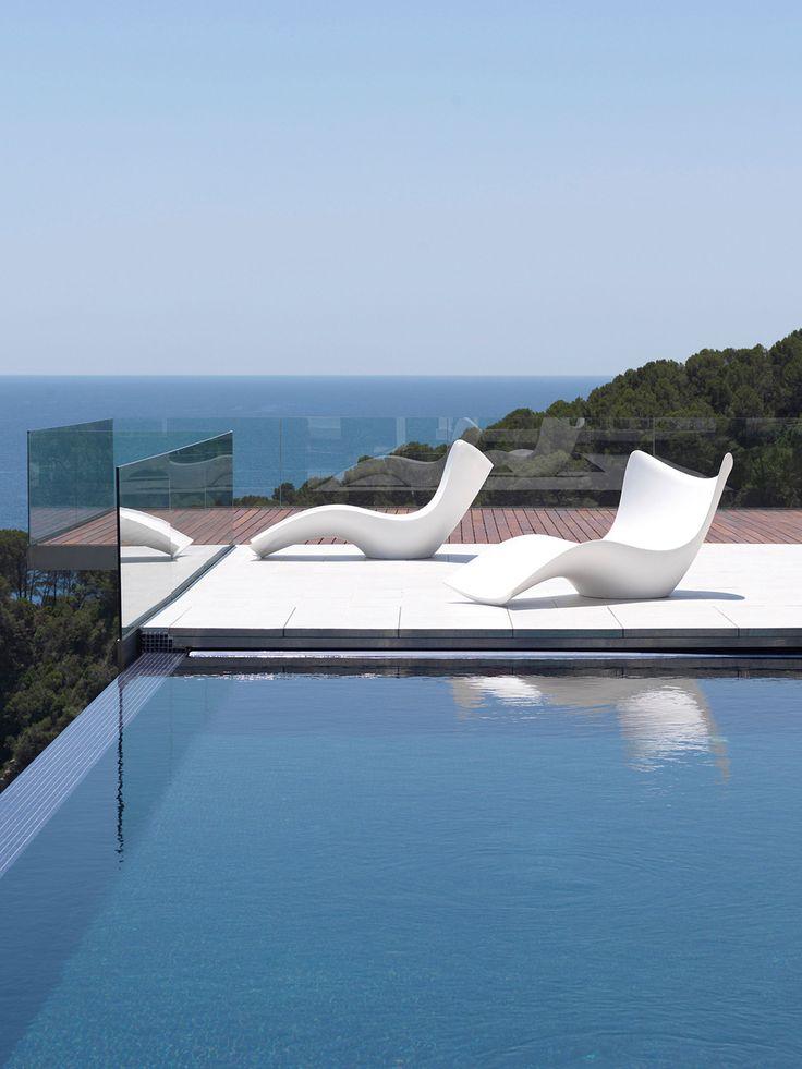 Surf Sun Chaise By Vondom At Gilt. Modern Outdoor FurnitureModern PatioFamous  ...