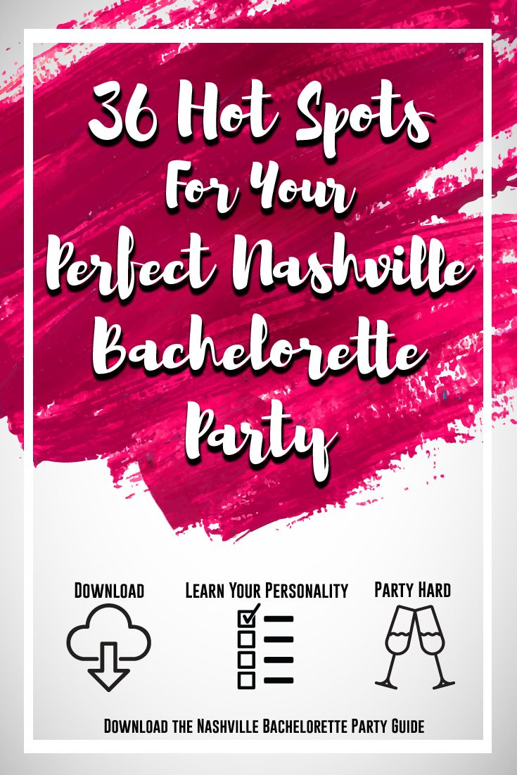If you're planning a Bachelorette Party in Music City, you NEED to check out this Nashville Bachelorette Party Guide! It's filled with over 30 must-try hot spots, sourced by local Bachelorettes! Be sure to take the free companion quiz, and find out which locations fit your Bachelorette type.