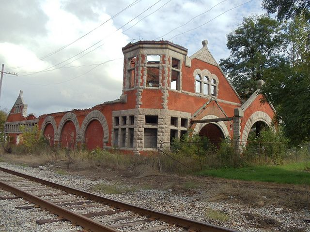 Old Train Station In Lockport Ny Decaying Beauty