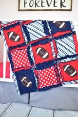 Football Nursery Bedding - Navy / Red