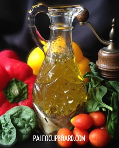 Paleo Italian dressing - this is really yummy.  I added rosemary and a bit of sage too!