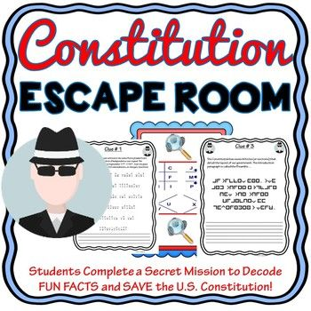 U.S. Constitution ESCAPE ROOM! - Government - No Props!
