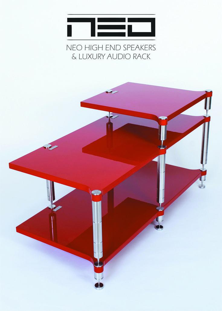 Audio rack NEO Double Tripod #neohighend #alpha #tripod #doubletripod #quattron #highendspeakers #luxuryaudiorack #accuton