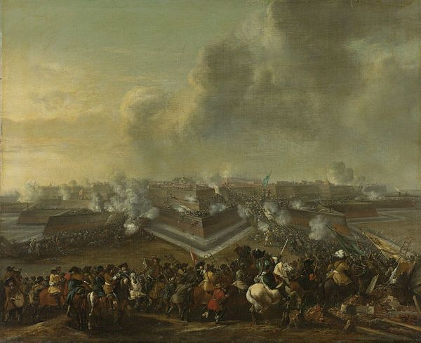 France and Allies War vs Dutch Republic 1672-1678                           De bestorming van Coevorden, 30 december 1672 Rijksmuseum SK-A-486.jpeg