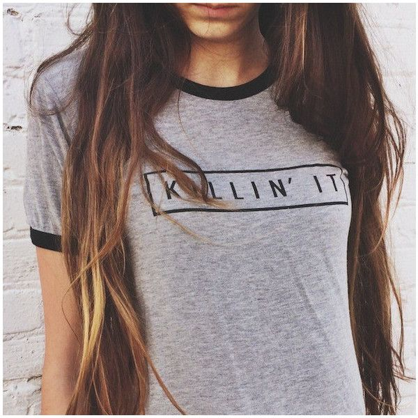 coastalthreadss Killin It Brandy Melville Inspired Shirt Heather Gray... ($20) ❤ liked on Polyvore featuring tops, t-shirts, shirts, grey, women's clothing, gray top, women tops, heather gray shirt, gray t shirt and henley shirt