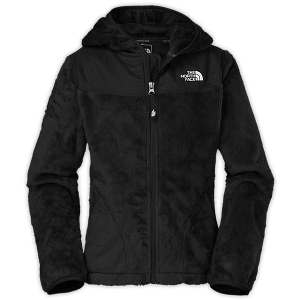 The North Face Kids Jacket Girls Oso Hoodie-Black (2.680 UYU) ❤ liked on Polyvore featuring tops, jackets, shirts and baby