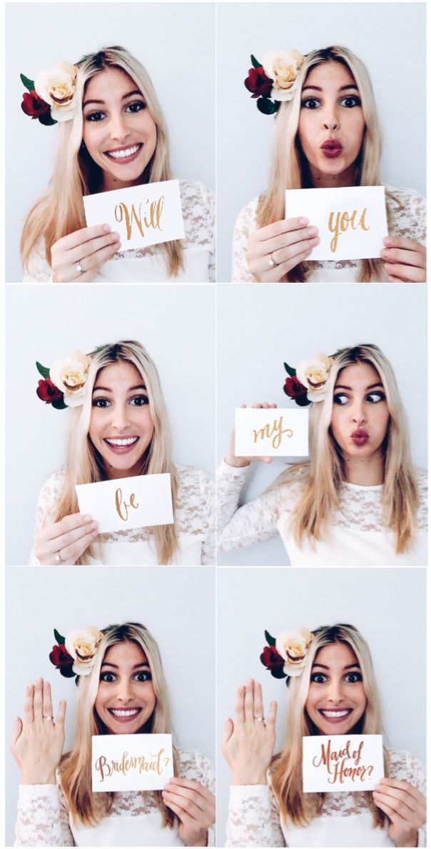 """Wedding: Fun way to ask your ladies! """"Will you be my bridesmaid/maid of honour?"""""""