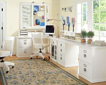 Pottery barn Bedford corner desk u0026 smart hutch. I love this collection!  There are more pieces you can get