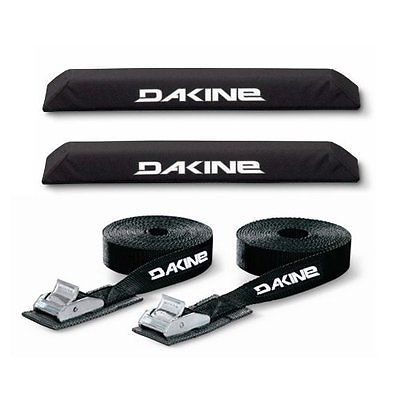 Car Racks 114254: Dakine 18 Aero Bar Black Surfboard / Sup / Kayak Roof Car Suv Rack Pad Set With BUY IT NOW ONLY: $68.88