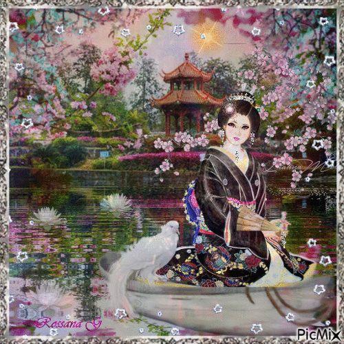 La geisha dans son jardin