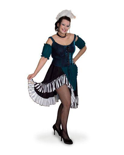 Lava Diva Halloween Costume Saloon Girl Costume, Size: X