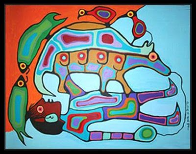 >>> Norval Morrisseau Facts, Articles & Art: Multiple Transfiguration by Norval Morrisseau