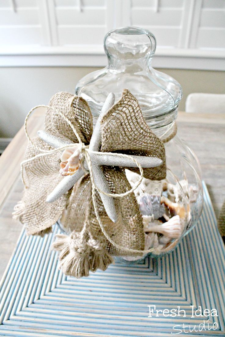 Summer Decorating With Favorite Vacation Memories In A Jar