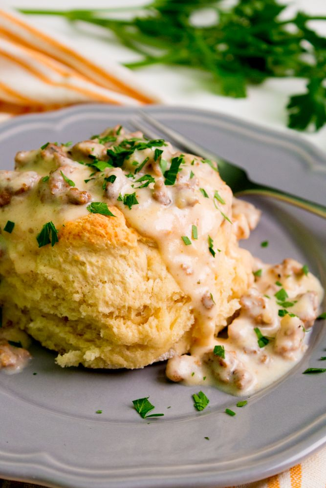 Southern Biscuits and Gravy   PDXfoodlove