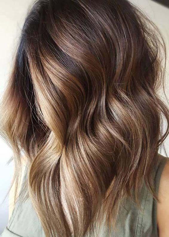 ombre long bob haircuts