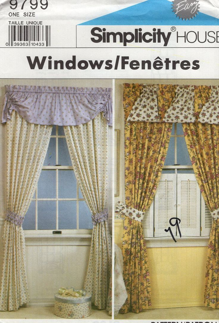 82 best window treatment sewing patterns images on pinterest