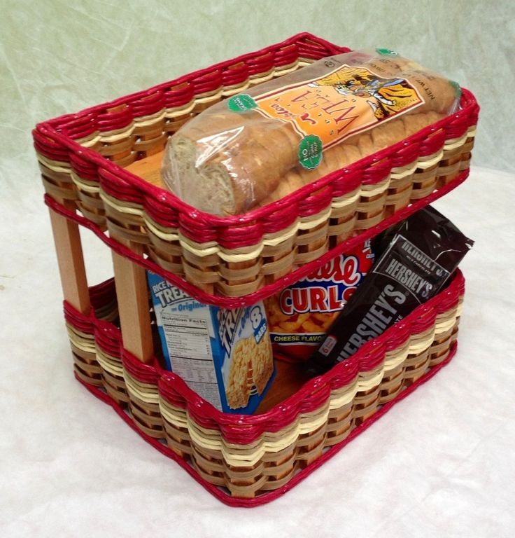 Double Bread and Pastry Basket. Out with those old bread boxes and in with a double basket that allows you to see all your bread and snacks.