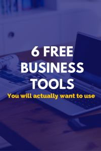 6 free business tools you will actually want to use.  Free business checking, free graphic design software, free email marketing, free logo design, free bookkeeping and more.
