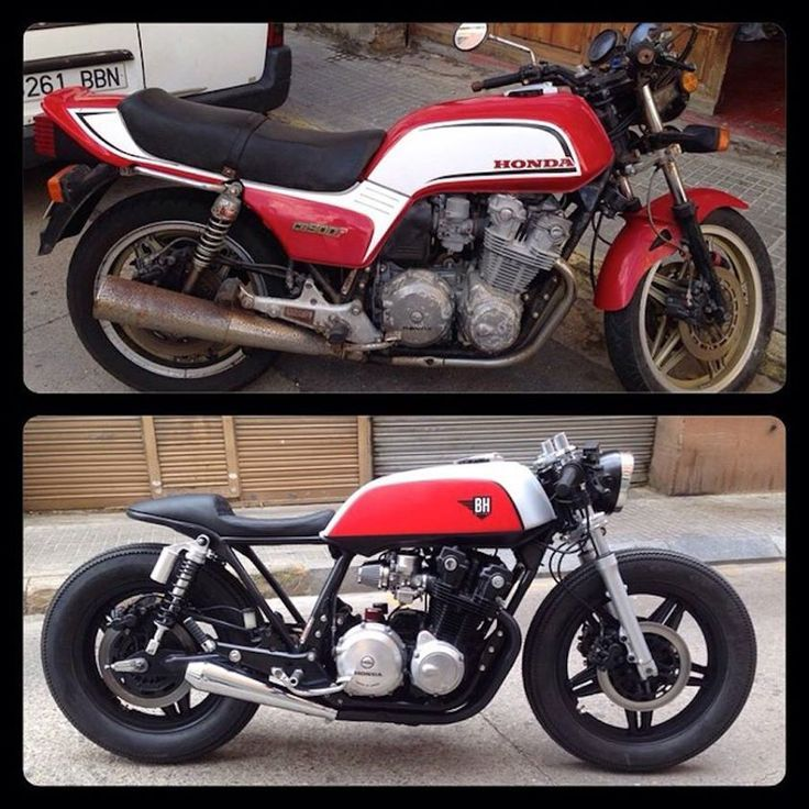 Cafe racer before and after: