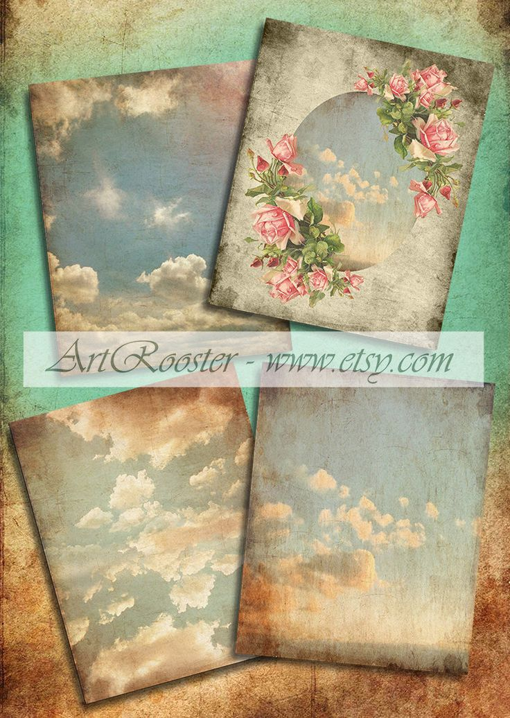 Digital Scrapbook Paper Floral Printable Images Digital Backgrounds Printable Scrapbook Digital Vintage Cloud Digital Paper Rose Shabby by ArtRooster on Etsy https://www.etsy.com/listing/463729953/digital-scrapbook-paper-floral-printable