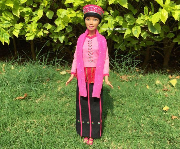 Khamti attire for Barbie dolls