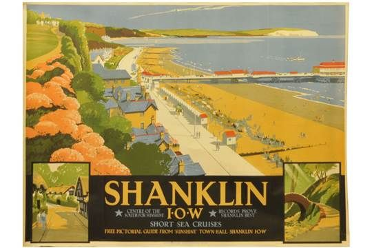 Railway Posters, Shanklin, Burley: A Southern Railway poster, SHANKLIN, ISLE OF WIGHT, by D.W. Bu