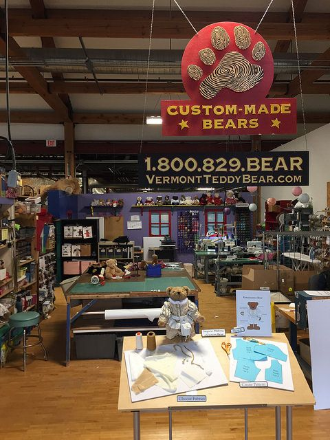 Visit: Vermont Teddy Bear Factory & Store {Shelburne, Vermont} #travel #tourism #Vermont
