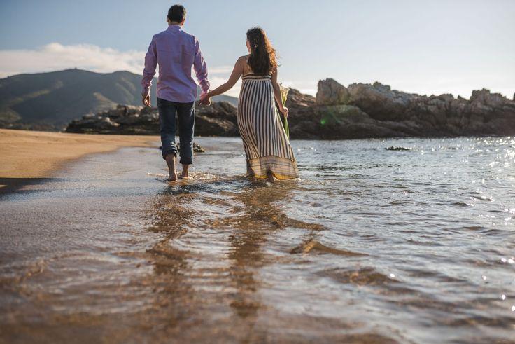 Para esta sesión pre boda nos escapamos un día martes a la playa Papudo en la V Región. Nos tocó un día hermoso y mi primera vez haciendo una sesión ahí.