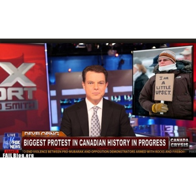 Canadian protest... ha ha, that's funny!