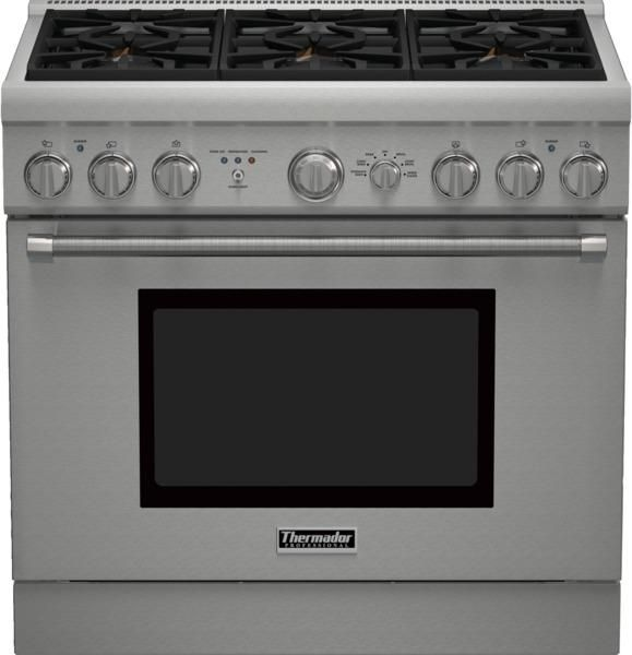 Yale Appliance Store, in Boston, Massachusetts features a wide variety of Ranges including the Thermador PRD366GHU.