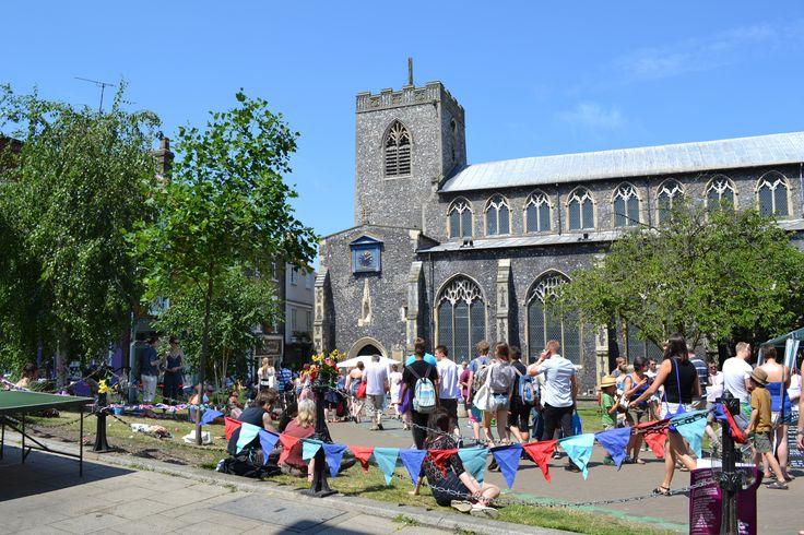 St Gregory's Green - Norwich Lanes Summer Fayre