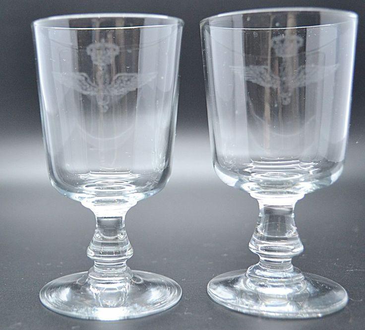 RARE Antique WW2 IAF Aeronautica Militare Italian Air Force Crest Sherry Glass