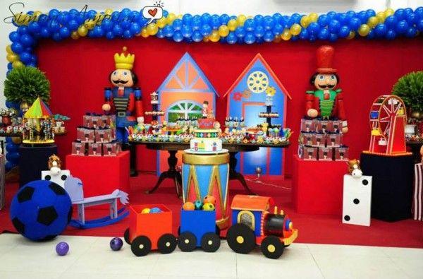 decoracao aniversario fabrica brinquedos