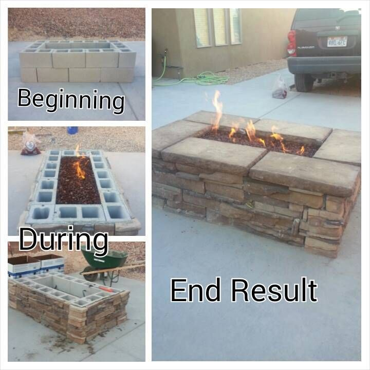 EasyFirePits.com create your own fire pit with T36CK+ deluxe gas kit and some…
