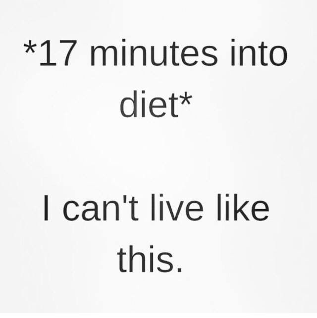 17 minutes into diet