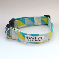 MR MYLO blue, yellow and white dog collar