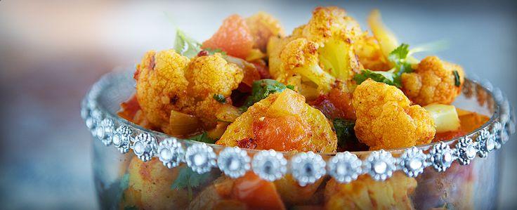 Indisk blomkål- og potetsnacks