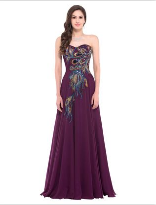 Lace Up Embroidery Peacock Dress Plus Size Formal Evening Dresses Long Oh  just take a look at this! Get it here 10fb47970