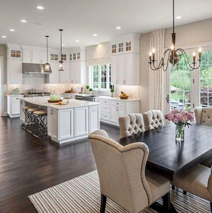 40+ Cozy White Kitchen Dark Floors Ideas