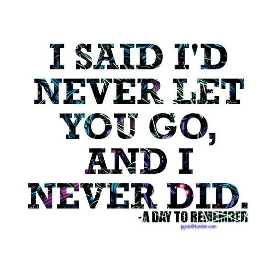 A Day to Remember -I said id never let you fall, when i always meant it!
