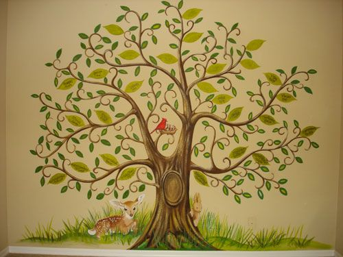 Best 25 tree murals ideas on pinterest tree mural kids for A mural is painted on a