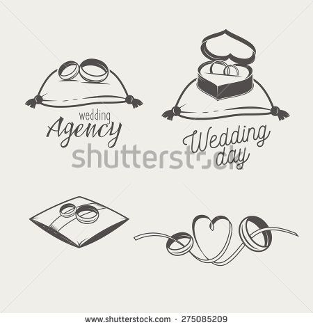 Set of logos for bridal salon, agency. Two wedding crossed rings on a pillow, in a box and with ribbon http://www.shutterstock.com/pic-275085209/stock-vector--set-of-logos-for-bridal-salon-agency-two-wedding-crossed-rings-on-a-pillow-in-a-box-and-with.html?src=uIoWRQhlFCQnBgd6x4YVpw-1-5