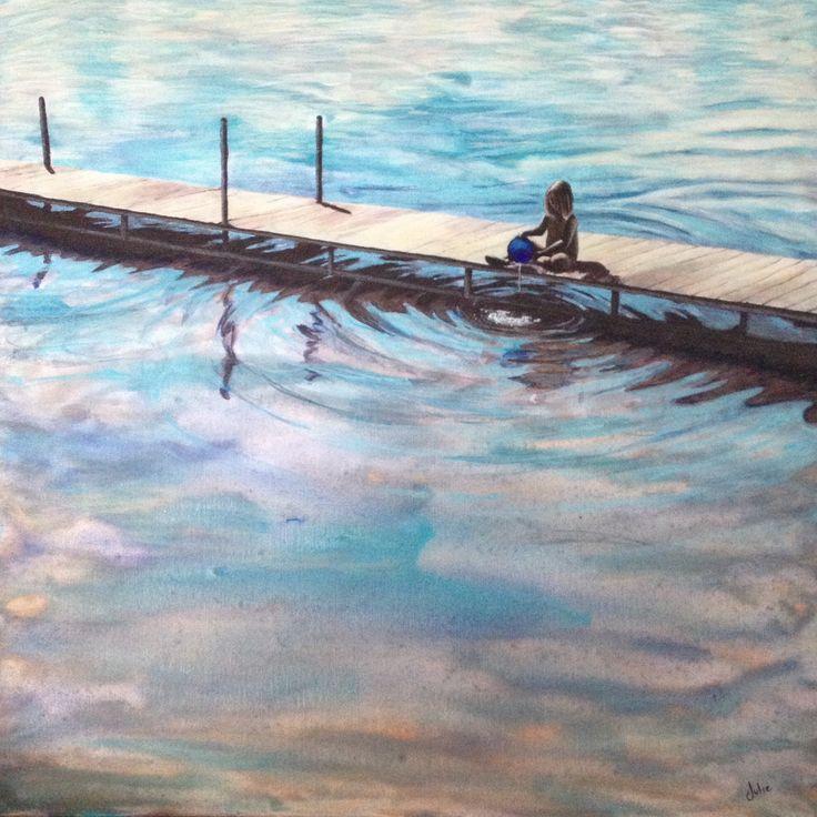 """""""At the Lake"""" (J.Lee, 2014, acrylic)"""